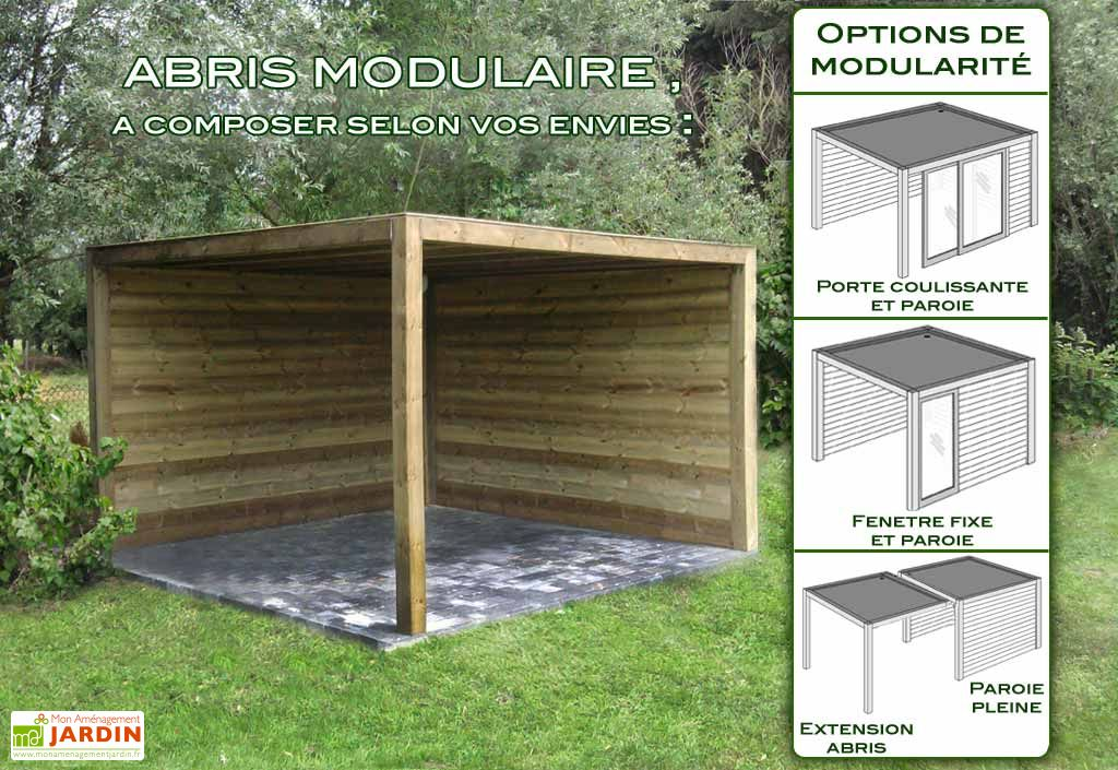 Abri de Jardin Bois Exterior (350x350x230)