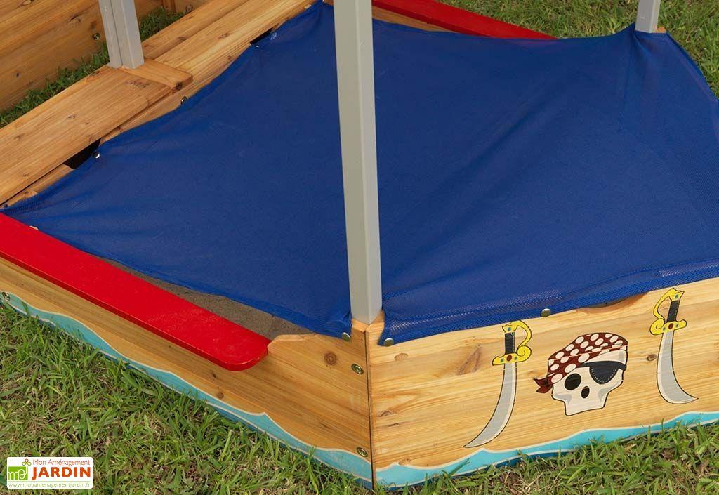 bac sable en bois bateau de pirate 200 cm kidkraft. Black Bedroom Furniture Sets. Home Design Ideas