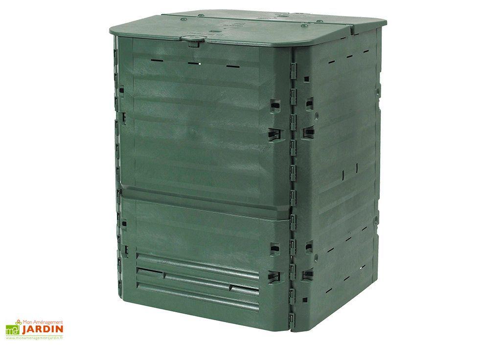 Bac à compost en polypropylène vert 900 litres Thermo King de Garantia