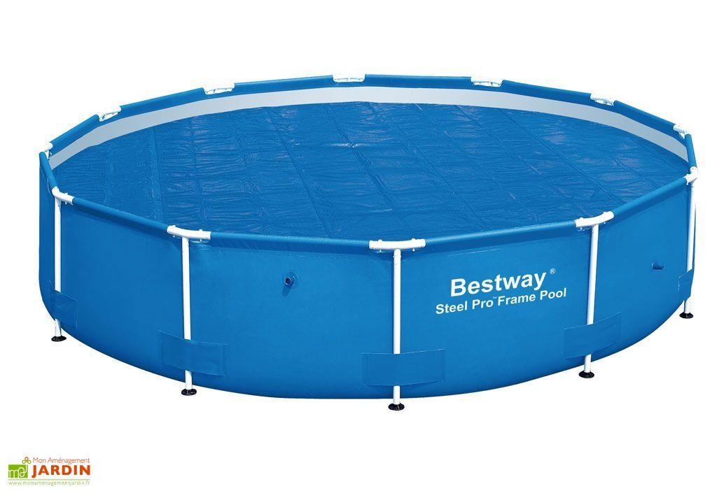 B che solaire et piscine ronde d 3 50 bestway for Liner piscine diametre 3 50