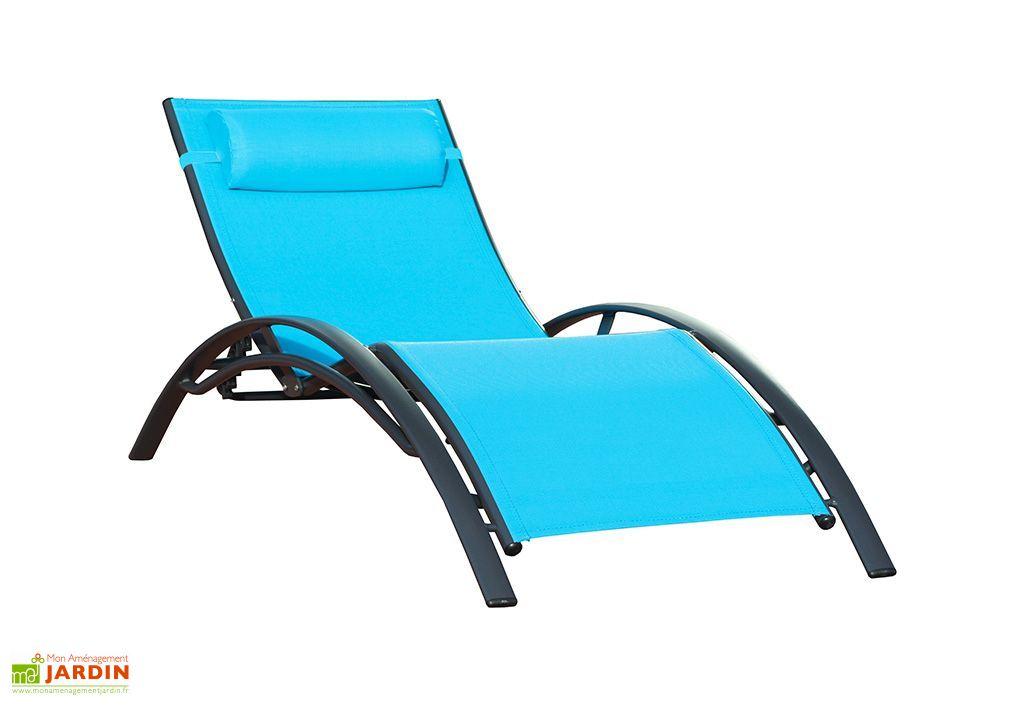Bain de soleil alu et textil ne sunlight turquoise dcb garden - Bain de soleil alu textilene ...