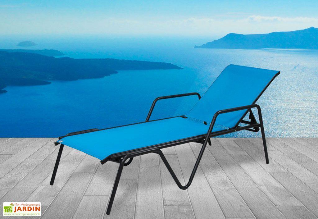 Bain de Soleil Alu et Textilène Zen Turquoise