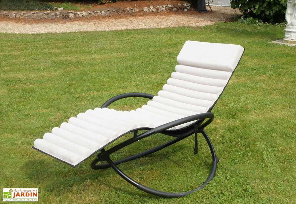 Bain de soleil textil ne swing futon 77x150x90 bain de soleil aluminium e - Bain de soleil textilene ...