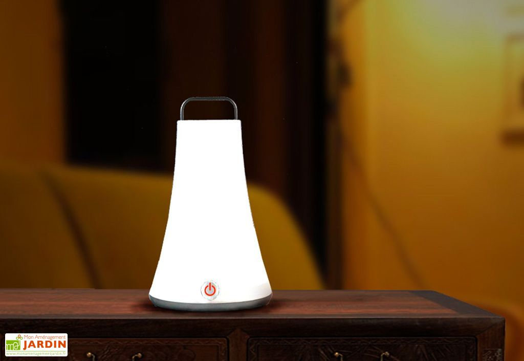 Baladeuse Lumineuse Blanche Autonome 14x14x23cm