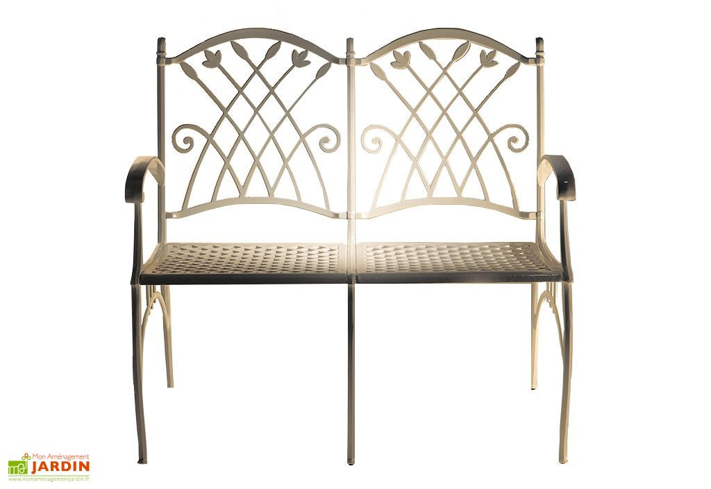 banc en aluminium puerto 2 places guzman y naranjo. Black Bedroom Furniture Sets. Home Design Ideas