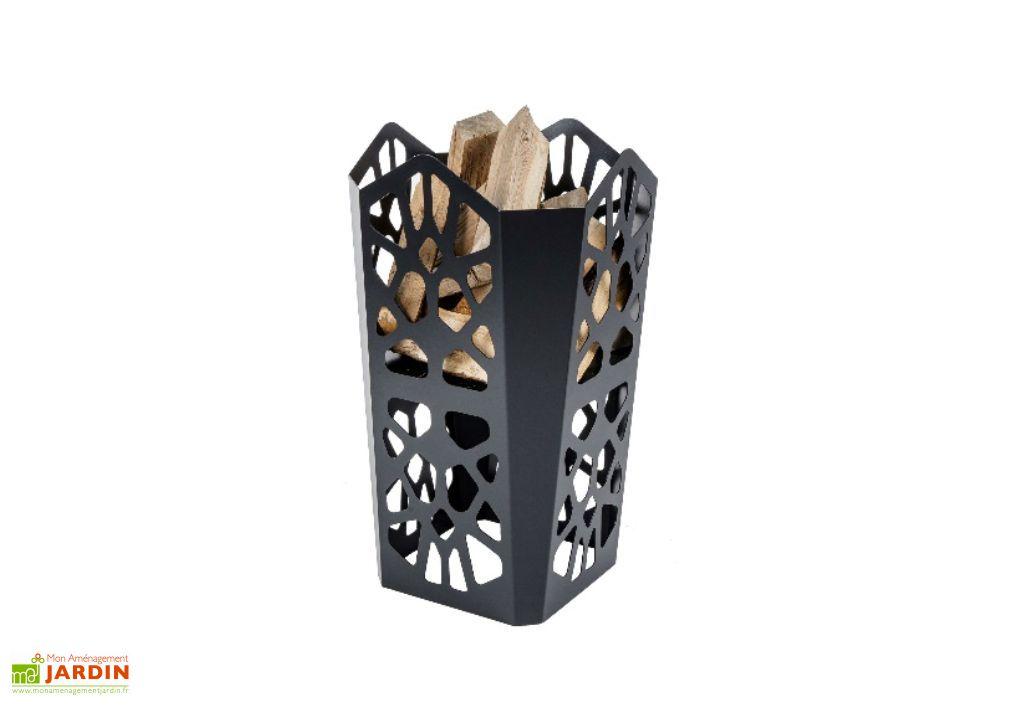 Braséro Noir Mat en Acier Epoxy (45x45x76cm)