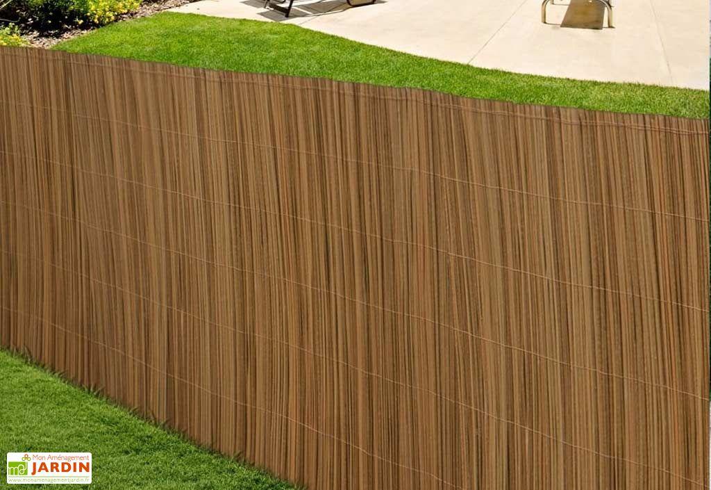 Canisse PVC Imitation Bois 1,5x3m