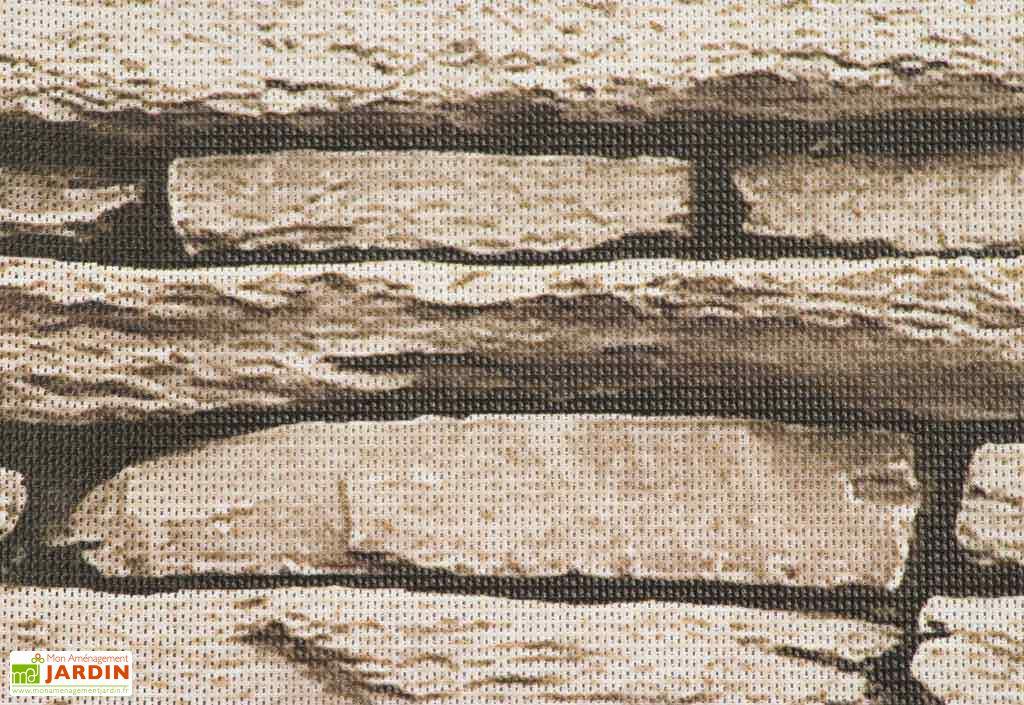 brise vue d coratif en polyester pierre naturelle au m. Black Bedroom Furniture Sets. Home Design Ideas