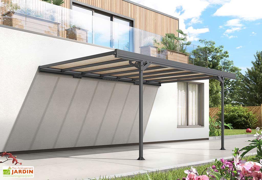 Carport Adossé en Aluminium et Polycarbonate Trigano Mistral 15 m²