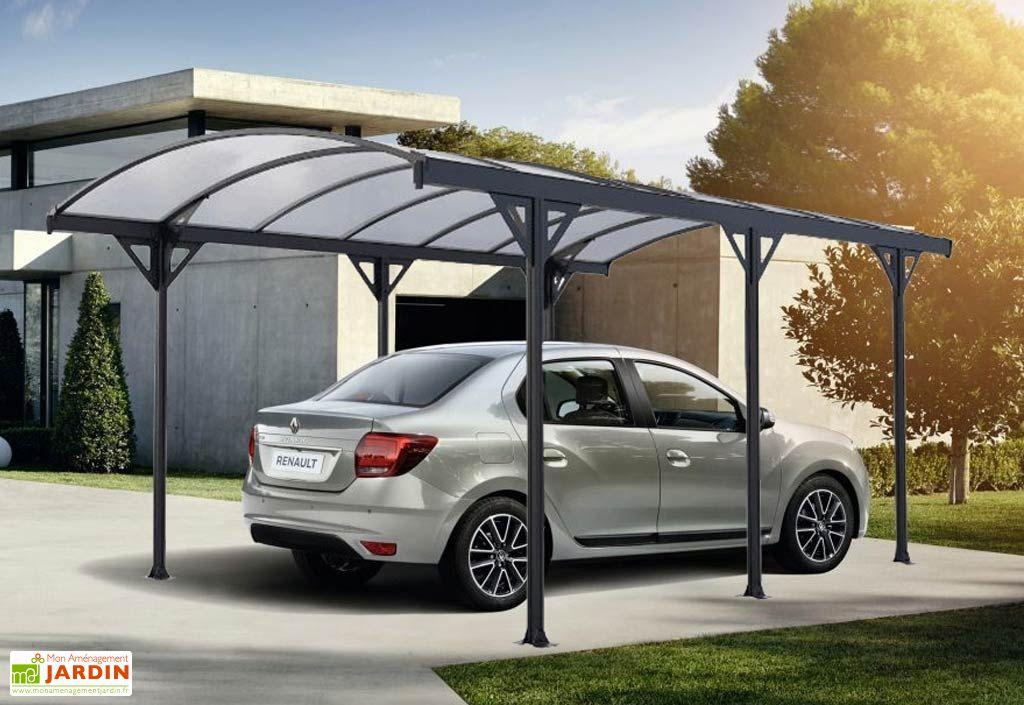 carport en aluminium avec toiture polycarbonate 6 mm