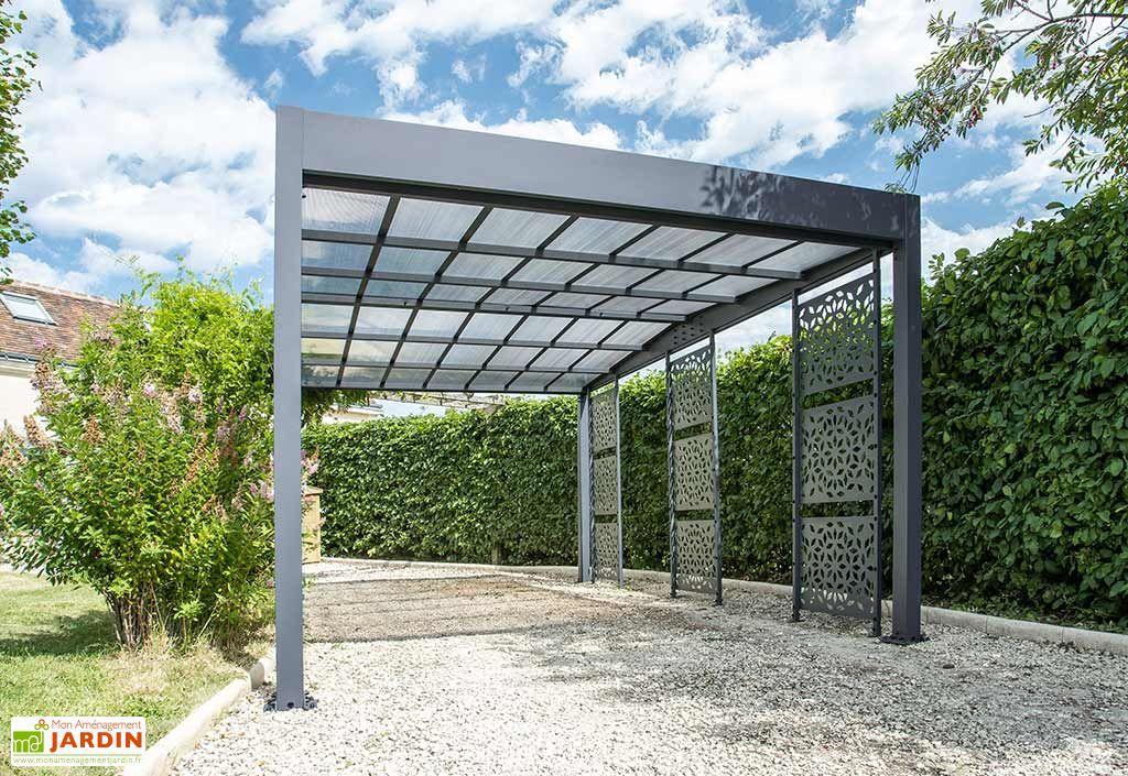 Abri pour Voiture en Aluminium et Polycarbonate Trigano Libeccio 16 m²