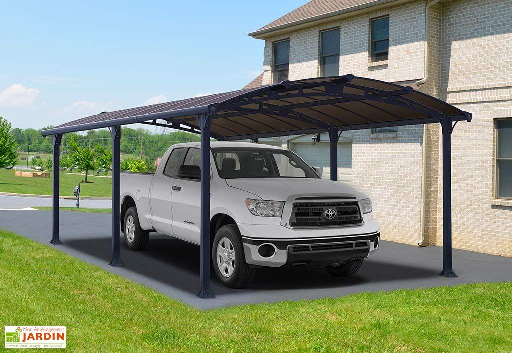 Carport voiture en aluminium 6,4 m avec toiture en polycarbonate Palram Arcadia 6400