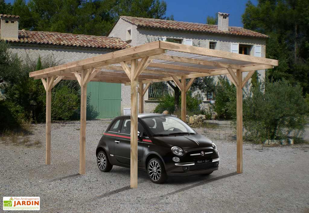 carport bois max toiture pvc 3x5 1x2 33 carport max 1 voiture couverture pvc madeira. Black Bedroom Furniture Sets. Home Design Ideas