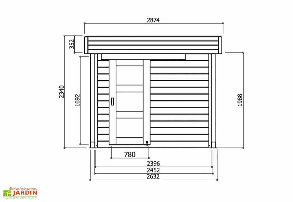 Carport Bois Autoportant 28mm Randers + Abri (245x205+468)