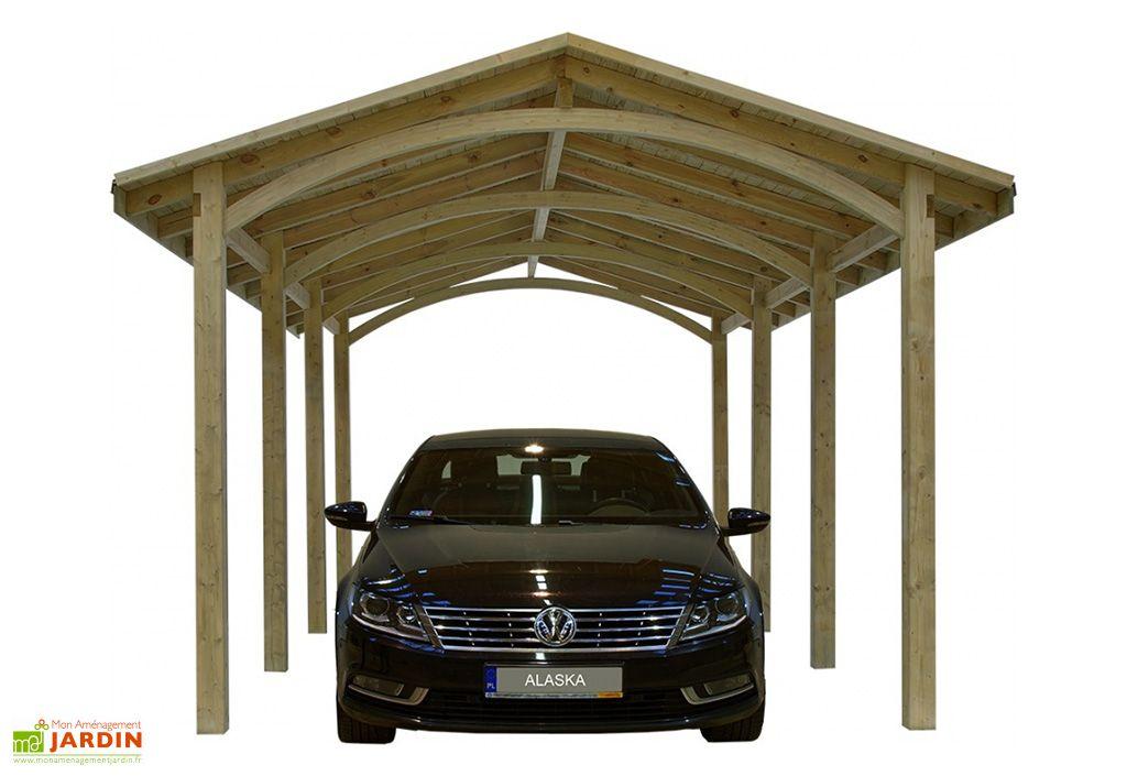 carport en bois Alaska 6 x 4 m jagram