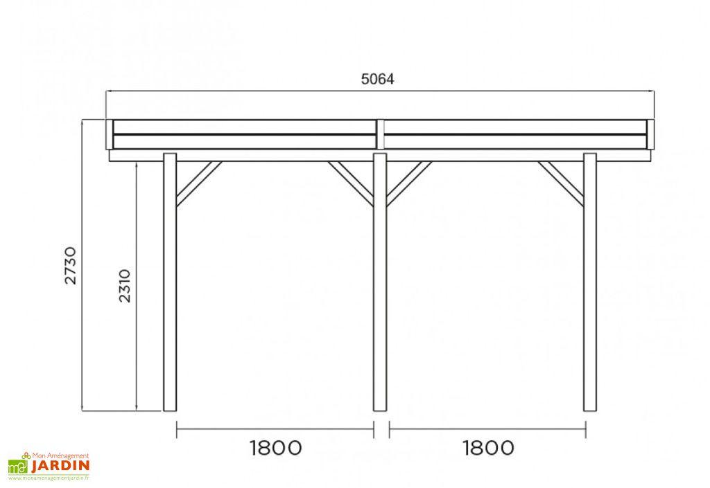 Carport Bois Modulable 3x5 m
