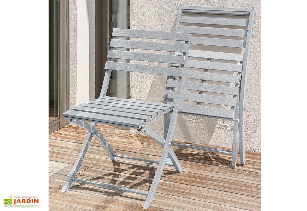 Salon de Jardin Orlando Pliant en Aluminium Table 140 cm + 4 Chaises