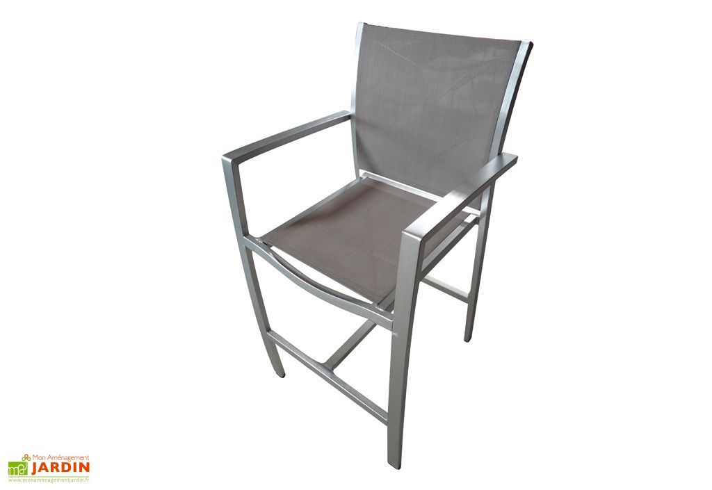 Chaise de jardin haute alu textil ne pacific dcb garden for Chaise jardin aluminium textilene
