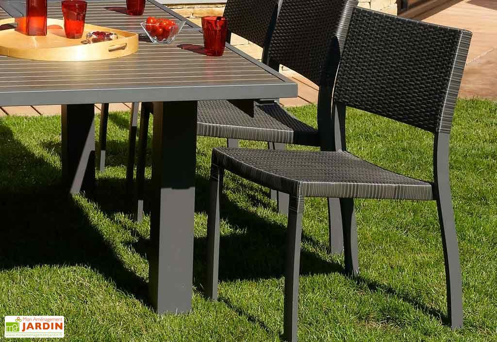 chaise de jardin aluminium et r sine tress e dcb garden. Black Bedroom Furniture Sets. Home Design Ideas