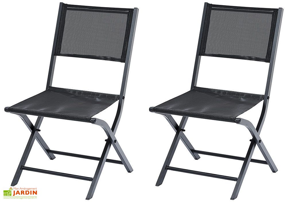 Chaises Pliantes en Aluminium Modulo (Lot de 2)