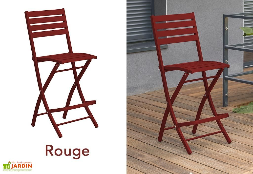 Chaise de Jardin Haute Pliante en Aluminium (pls coloris) - Alumob