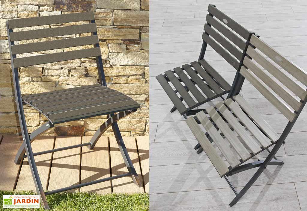 Chaise jardin pliante bois composite et alu chaise for Chaise jardin alu