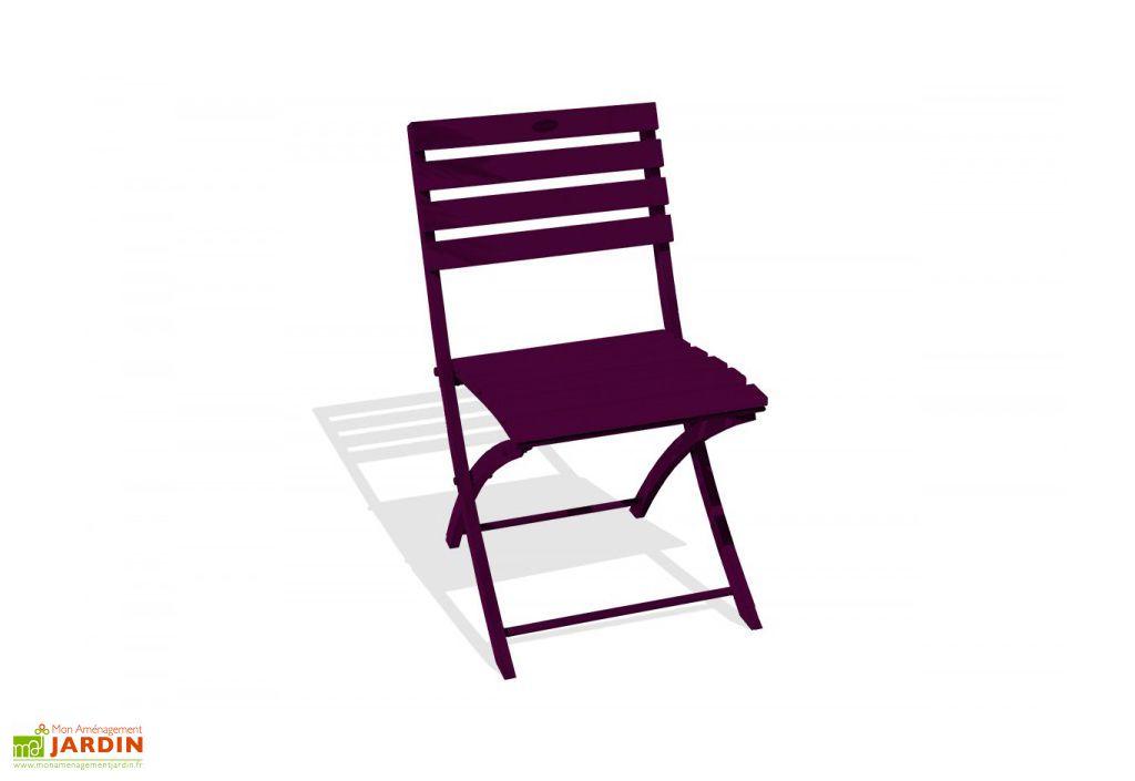 Chaise de jardin pliante en aluminium marius alumob - Leroy merlin chaise pliante ...