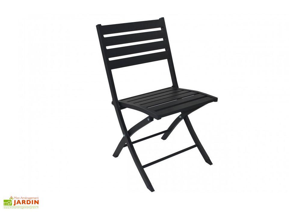 chaise de jardin pliante en aluminium marius alumob. Black Bedroom Furniture Sets. Home Design Ideas