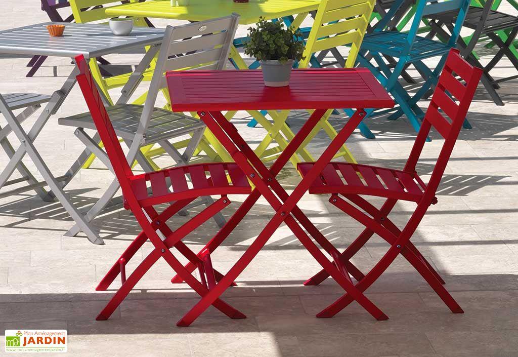 Chaise de Jardin Pliante en Aluminium Marius