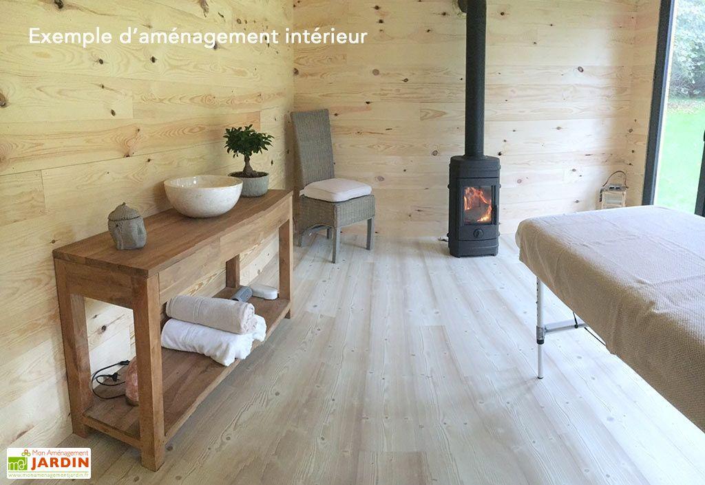 chalet en bois habitable isol 90 mm double vitrage toit. Black Bedroom Furniture Sets. Home Design Ideas