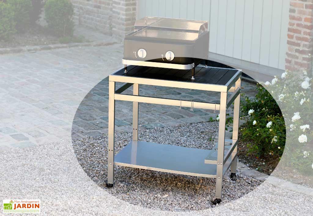 desserte roulante plancha gaz first desserte first cook 39 in garden. Black Bedroom Furniture Sets. Home Design Ideas