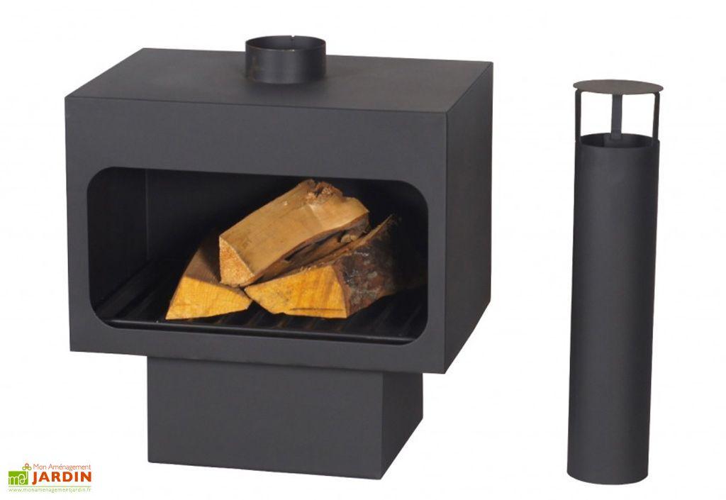 chemin e de jardin arizona en acier noir farmcook. Black Bedroom Furniture Sets. Home Design Ideas
