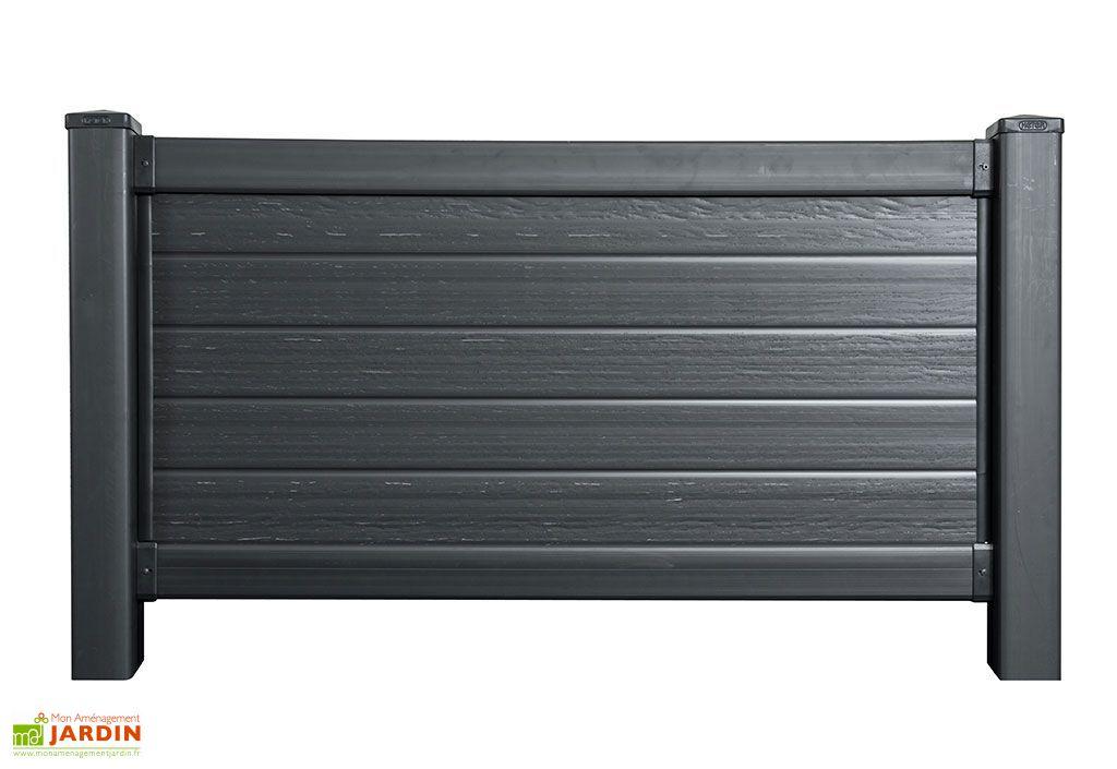Kit Panneau Polypropylène Aspect Bois Noir 195x12,5x102,5cm (l,l,h)