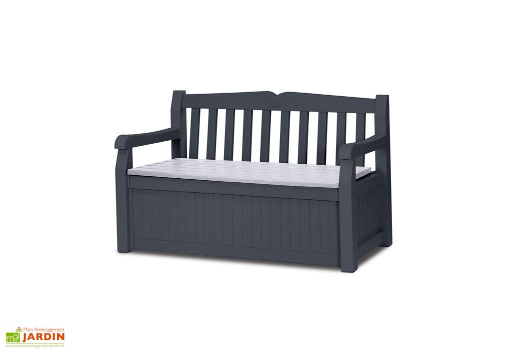 Coffre de Rangement Garden Bench Anthracite 265L