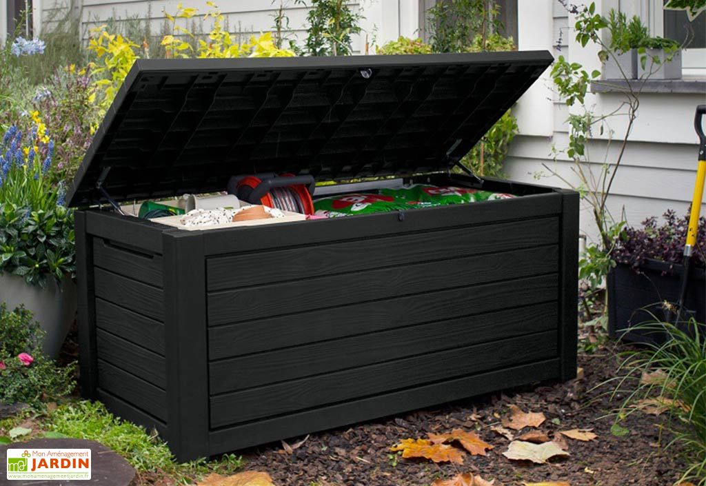 Coffre de jardin Keter en polypropylène marron Northwood 623 L