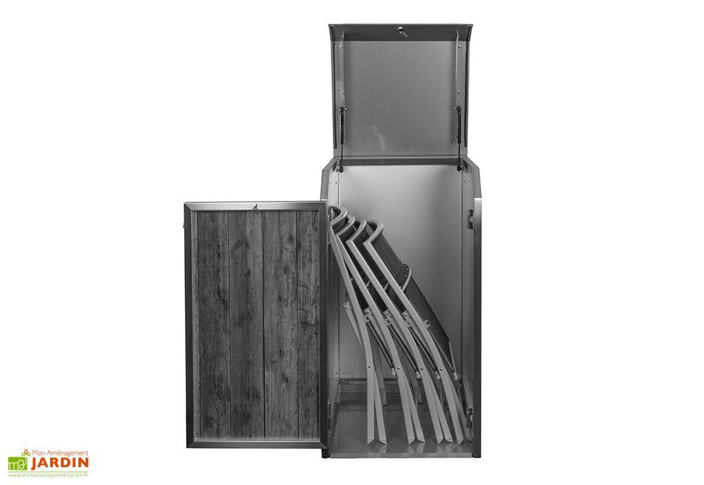 Coffre de jardin en inox Stengel Mono Box anthracite