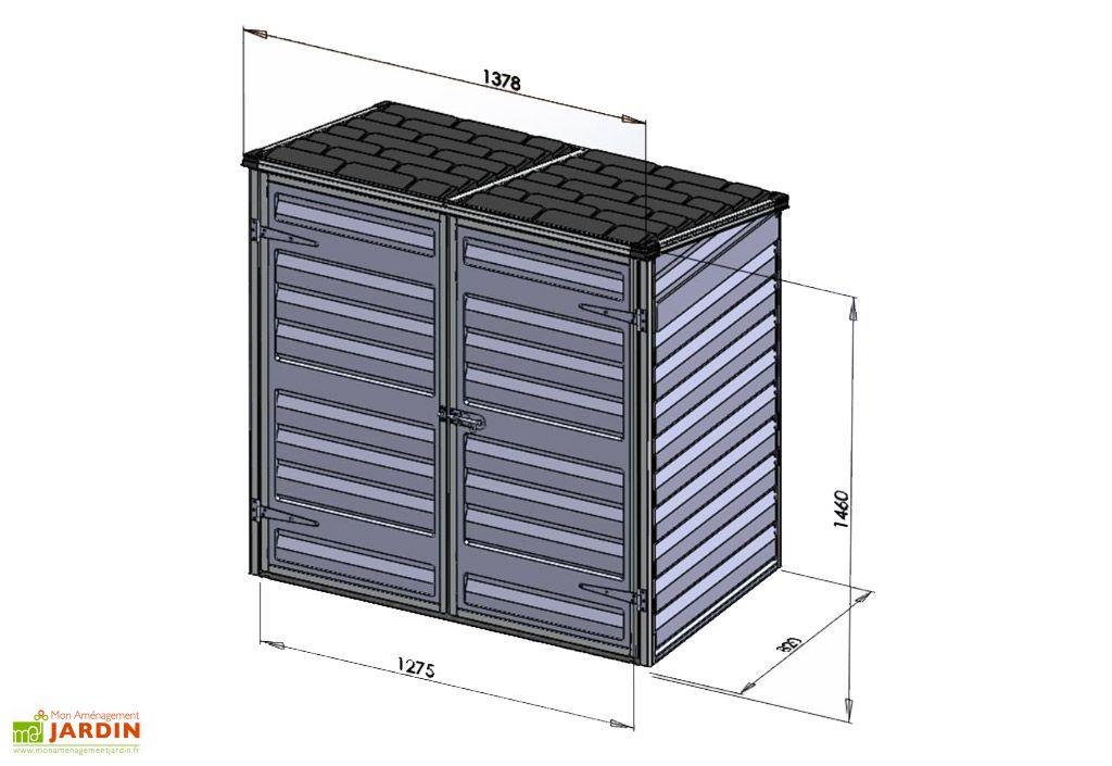 Coffre de Rangement en Polycarbonate Helfy (82x138x146cm)
