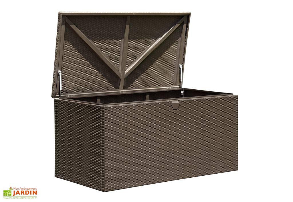 Coffre de rangement en acier galvanisé marron
