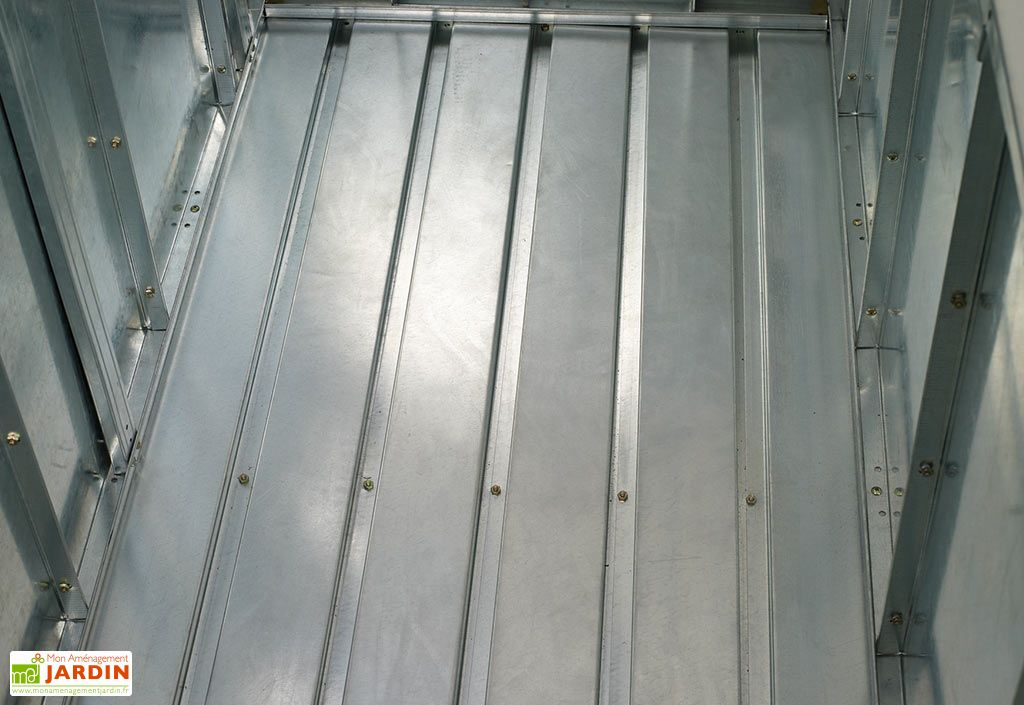 Coffre de Rangement en Métal Marron 595L