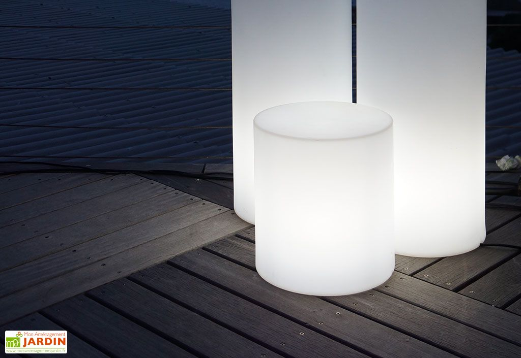 Colonne Lumineuse Blanche 35x38cm(l,h)
