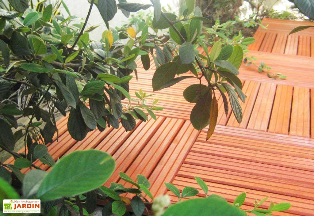 Dalles 50x50 Bois Padouk Lot 4 (soit 1m²)