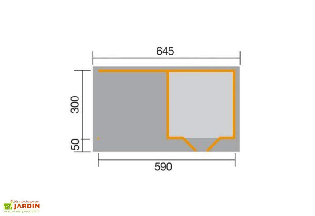 Abri Design Chill-Out 3 28mm (14,16 m²: 590x240 ou 17,7m²: 590x300)