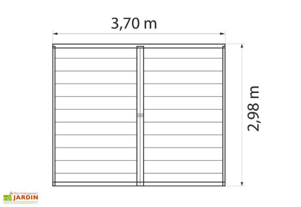 Abri de Jardin PVC Utility 7,5
