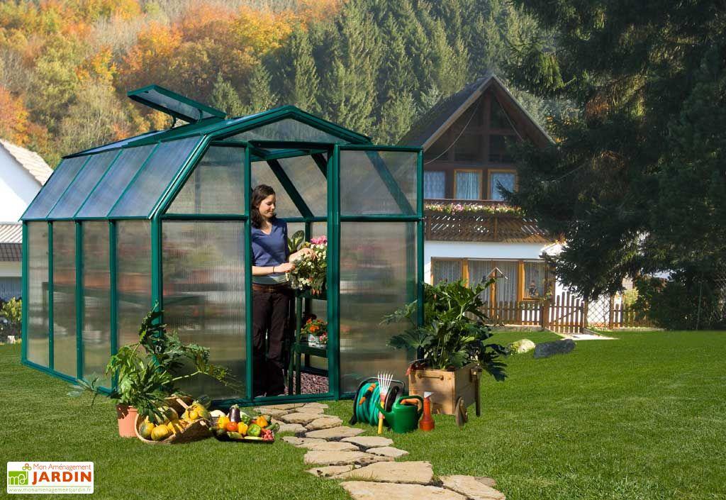 Serre de jardin polycarbonate rion eco34 197x305x193 for Table agrandissable