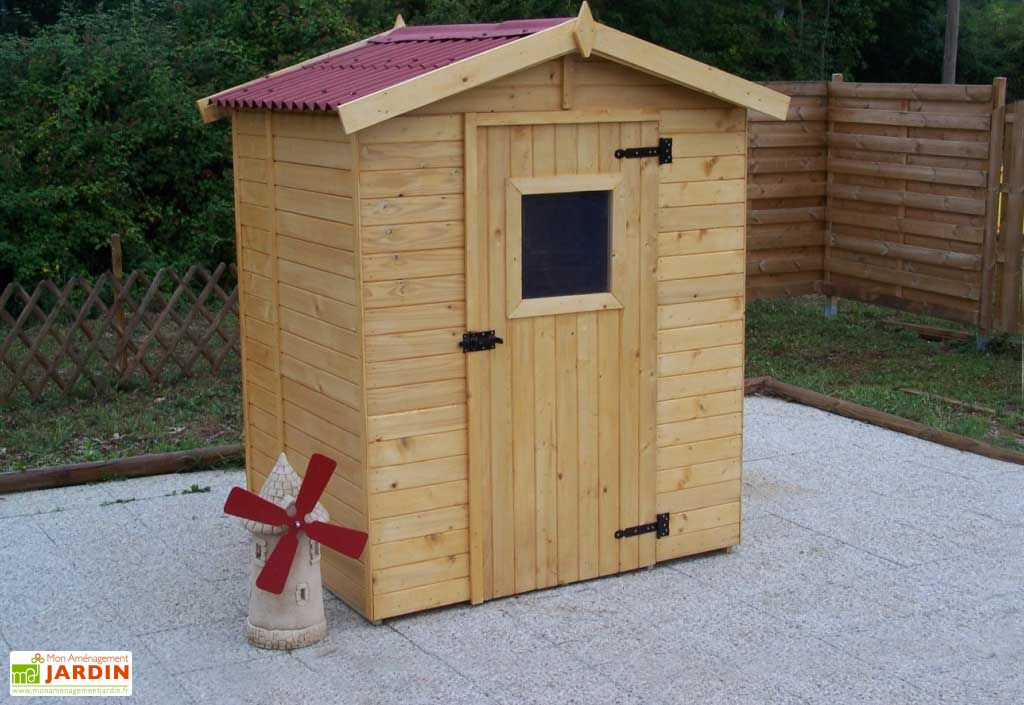 Abri de jardin bois eden 1 6x1 2 16mm plancher habrita - Abris de jardin x poitiers ...