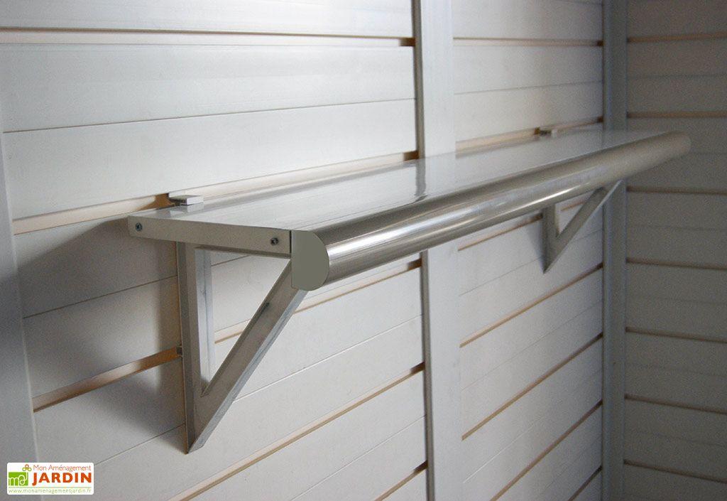 Kit 2 Etagères pour Abri de Jardin en PVC Evo