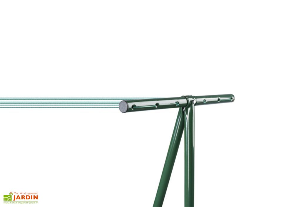 étendoir à linge séchoir de jardin vert Trigano Windy