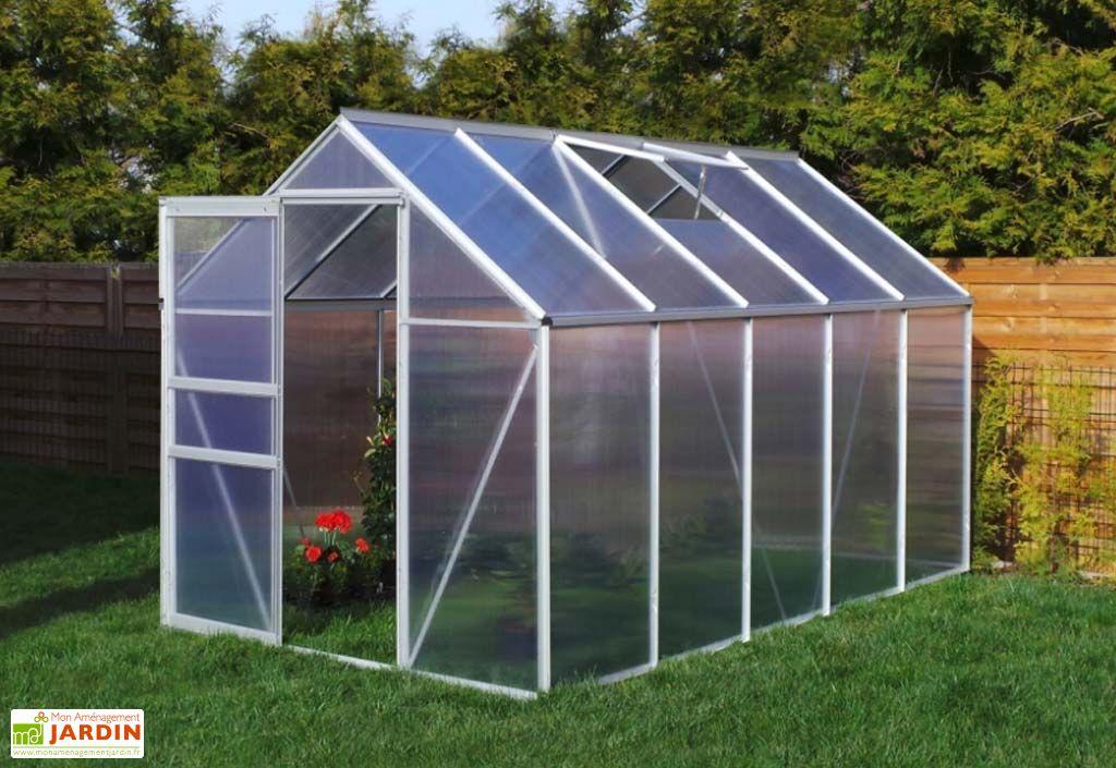 Serre Jardin en Aluminium Polycarbonate 5,89 m²- 190x310 cm