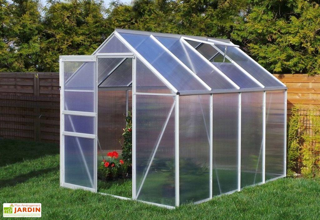 Serre Jardin en Aluminium Polycarbonate 4,75 m²