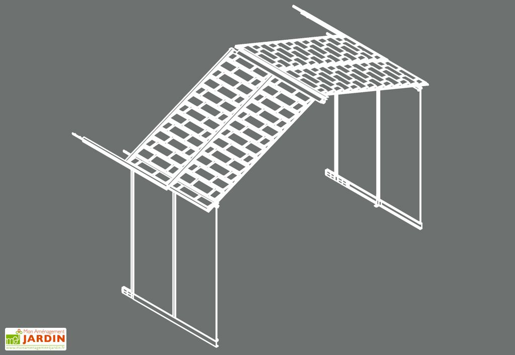 Extension pour abri de jardin Yukon de Palram en polycarbonate